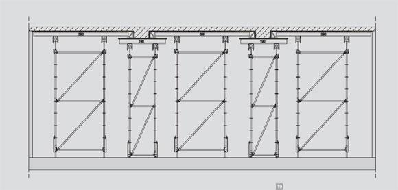 cгоризонтальная опалубка – опорные конструкции mc – фрагмент