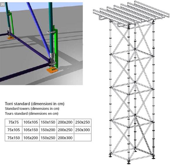 горизонтальная опалубка – опорные конструкции mc – фрагмент