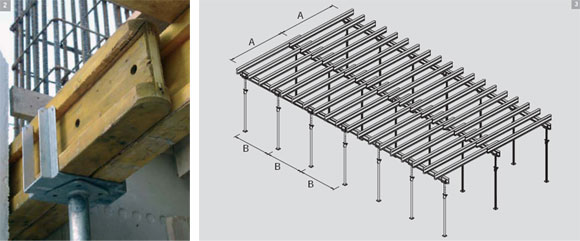 cгоризонтальная опалубка примеры и укладка балок перекрытий