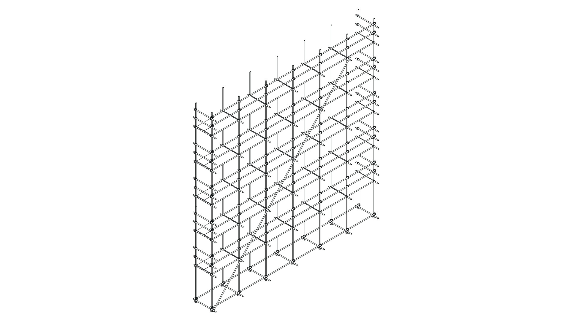 Scaffolding with tube and couplers