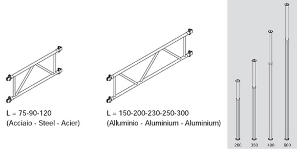 стойки алюминиевые большой грузоподъемности alu cp