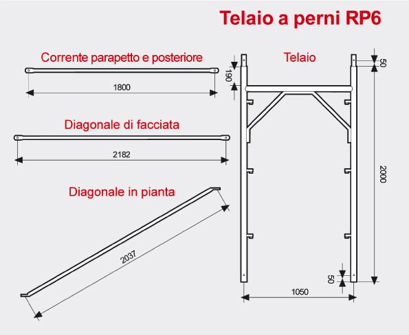Ponteggio a perni RP6