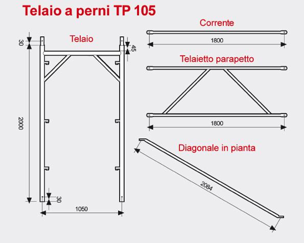 Ponteggio a perni TP105